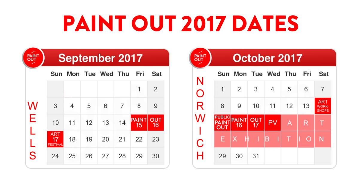 2017 Paint Out calendar