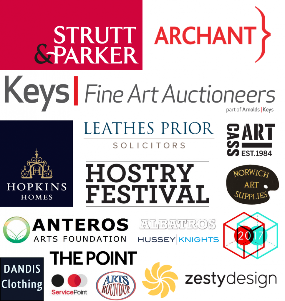 Sponsors of Paint Out 2017 - Hopkins Homes, Strutt & Parker, Leathes Prior, Cass Art, Archant