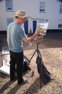 Artist Tony Robinson painting at Paint Out Wells 2015. Photo © Katy Jon Went