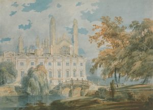 Clare Hall and King's College Chapel, Cambridge, from the Banks of the River Cam, JMW Turner, 1793