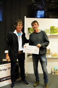 James Colman presenting First Prize in Oils to artist Robert Nelmes