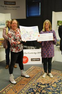 Artist Alice Thomson being presented with the Spirit of Cambridge Prize at POC2019