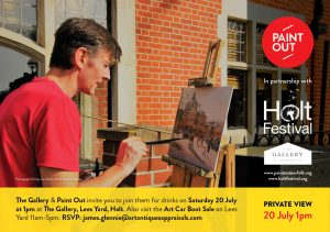 Paint Out Holt - Private View Invitation