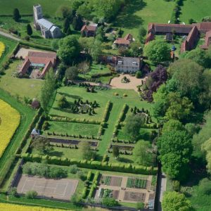 Hunworth Hall Aerial photo via flickr by John D Fielding sq