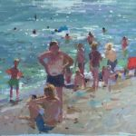 Artist Haidee-Jo Summers, 'Sunbathers', Oils, 10x14in unframed, 17x21in framed, £775