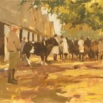 Artist Haidee-Jo Summers, 'Waiting to be Judged', Norfolk Showground, Oil, 12x14in, £800 DSC00492