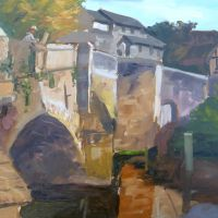 Artist Paul Alcock, 'Bishops Bridge, Norwich', Oil on board, 30x40cm, £275