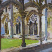 Artist Paul Alcock, 'The Cloisters, Norwich', Oil on board, 10x12in, £225