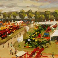 Artist Robert Nelmes, 'Norfolk Show Panoramic', Norfolk Showground, Oil, 30x40cm, £200