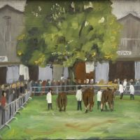 Artist Brian Korteling, 'Livestock Ring', Norfolk Showground, Oil, 18x15cm, Photo by KJW