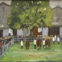 Artist Brian Korteling, 'Livestock Ring', Norfolk Showground, Oil, 18x15cm, Photo by KJW