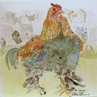 Artist Eloise O'Hare, 'George', Norfolk Showground, Mixed Media, 40x40cm, £320 DSC00478
