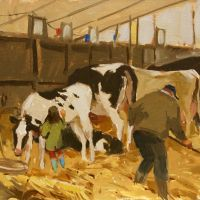 Artist Haidee-Jo Summers, 'A First and Two Seconds', Norfolk Showground, Oil, 10x11in, £650