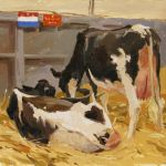 Artist Haidee-Jo Summers, 'Best of Breed', Norfolk Showground, Oil, 12x13in, Photo by KJW