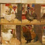Artist Haidee-Jo Summers, 'Championship Row', Norfolk Showground, Oil, 10x11in, Photo by KJW