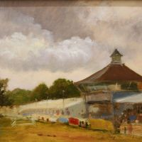 Artist Jennifer Sendall, 'The Grand Ring', Norfolk Showground, Oil, 9x11in, £275