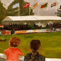 Artist Paul Alcock, 'The Ring', Norfolk Showground, Oil on board, 10x12in, Photo by KJW